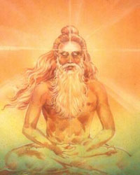 Drawn image of the sage Patanjali