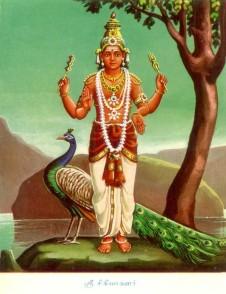 Shrī Kārtikeya on Peacock